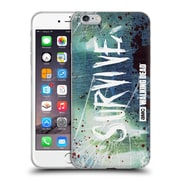 Official Amc The Walking Dead Typography Survive Torned Glass Soft Gel Case For Apple Iphone 6 Plus / 6S Plus