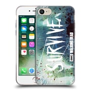 Official Amc The Walking Dead Typography Survive Torned Glass Soft Gel Case For Apple Iphone 7