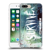 Official Amc The Walking Dead Typography Survive Torned Glass Soft Gel Case For Apple Iphone 7 Plus