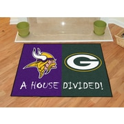 FANMATS NFL House Divided - Vikings / Packers House Divided Mat