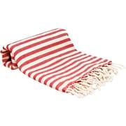 Buldano Turkish Peshtemal Fouta Bath Towel; Red