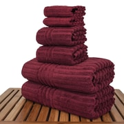 Bare Cotton Luxury Hotel and Spa 100pct Genuine Turkish Cotton 6 Piece Towel Set; Cranberry