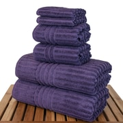 Bare Cotton Luxury Hotel and Spa 100pct Genuine Turkish Cotton 6 Piece Towel Set; Plum