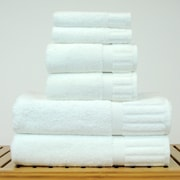 Bare Cotton Luxury Hotel and Spa 100pct Turkish Cotton 6 Piece Towel Set; White
