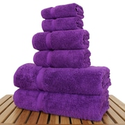 Bare Cotton Luxury 6 Piece Turkish Cotton Towel Set; Eggplant