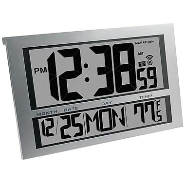 Marathon - Horloge murale numérique géante Atomic avec date et température