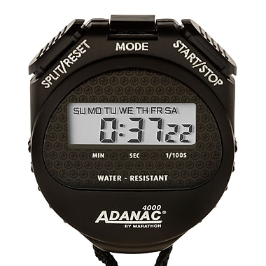 Marathon Water Resistant Digital Stopwatch with Extra Large Display and Buttons (ST083009)