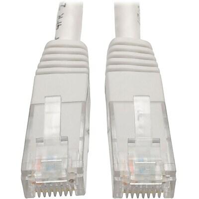 Tripp Lite 5ft Cat6 Gigabit Molded Patch Cable RJ45 M/M 550MHz 24 AWG White IM18D9119