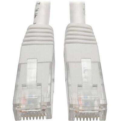 Tripp Lite 10ft Cat6 Gigabit Molded Patch Cable RJ45 M/M 550MHz 24AWG White IM18D9123