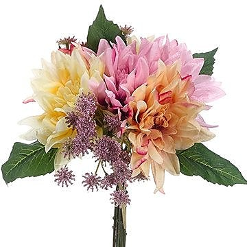 August Grove Taylor Dahlia Bouquet; Yellow /