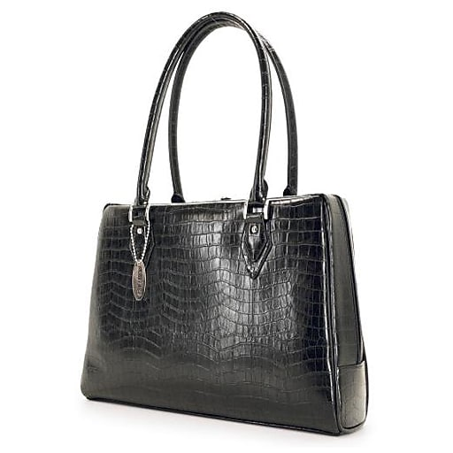 Mobile Edge Laptop Handbag, Black Faux Leather (MEMC1S)