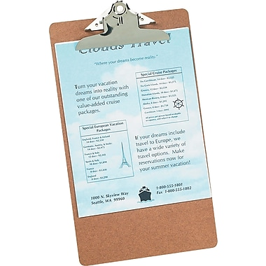 Staples® Hardboard Clipboard, Legal, 9