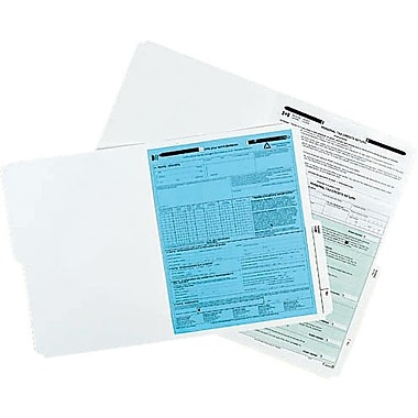 Oxford® Slimtrim™ File Folders with # 1 Fastener Position, 2 Prong, Ivory