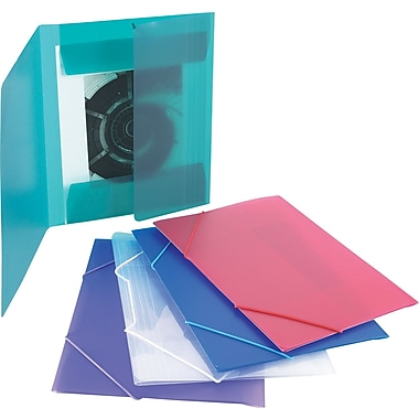 Staples® Translucent Expanding Poly Folder. Letter Size