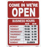 US Stamp & Sign Business Hours Sign Kit with Open/Closed, English