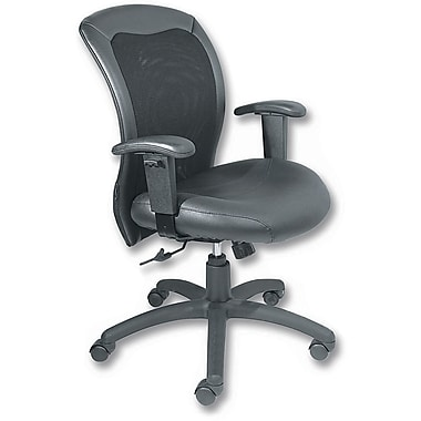 Staples® Executive Mesh-Back Manager's Chair, Black