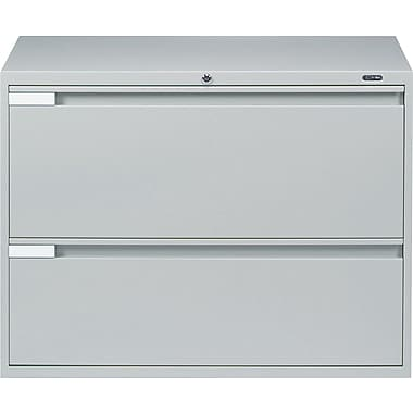 Global® 9100 Plus Series Lateral File Cabinet, 2-Drawer, Grey