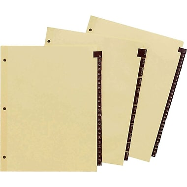 Staples Black Leather Monthly Tab Dividers, 1-31