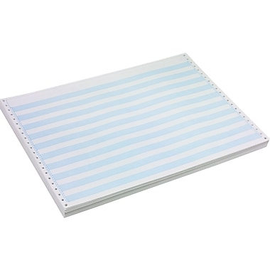 Staples® Blue Bar Computer Paper, 14 7/8in. x 11in., 15 lb.