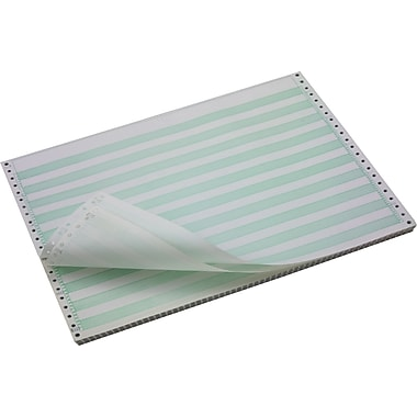 Domtar 141108 Computer Paper, White/Green, 11