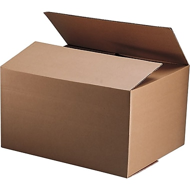 22in.(L) x 17in.(W) x 12in.(H) - Staples® Corrugated Shipping Boxes, 10/Bundle