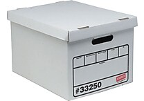 Staples® Economy Storage Boxes, 10/Pack