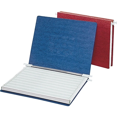 Acco® Hanging Data Binders Presstex® Cover, Light Blue, 11in. x 8 1/2in.