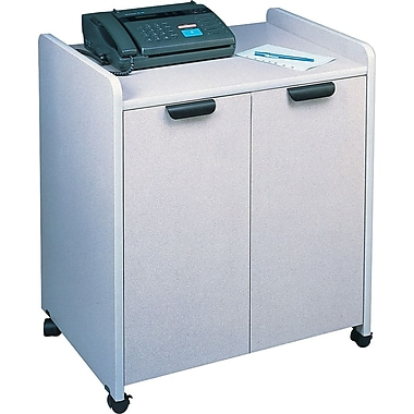 Mayline® 31in.(H) x 27in.(W) x 20in.(D) Mobile Utility Cabinet, Nebula Gray