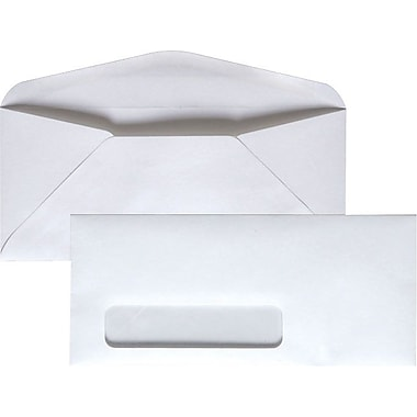 Staples® #9, Left Window Gummed Envelopes, 500/Box