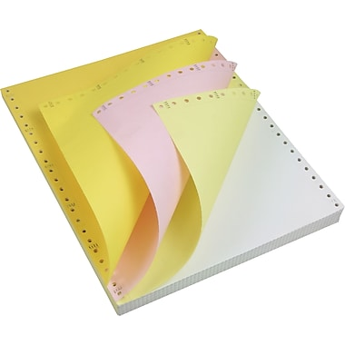 Staples® Multi-Part Colored Computer Paper, 3-Part, 9 1/2in. x 11in.