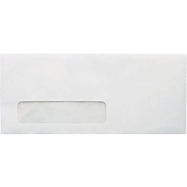 Staples® #10, Left Window Recycled Envelopes, Gummed Closure, 500/Box