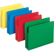 Smead® Poly Expanding File Pockets, Letter, 3 1/2 Expansion, Assorted, 4/Pack