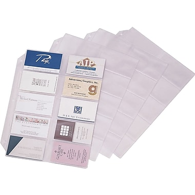 Cardinal Business Card File Refill Pages, 10/Pack