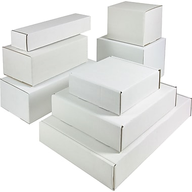 7 1/2in. x 3 1/4in. x 1 3/4in. Staples® Corrugated Mailers, 50/Bundle