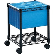 Safco Mobile File Cart, Black, 19 1/2in. H x 15 1/2in.W x 13 7/8in.D