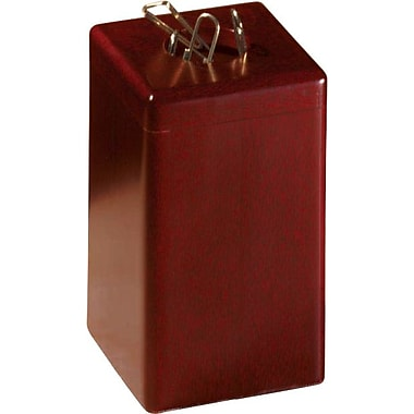 Eldon® Wood Tones™ Mahogany-Finish Magnetic Paper Clip Holder