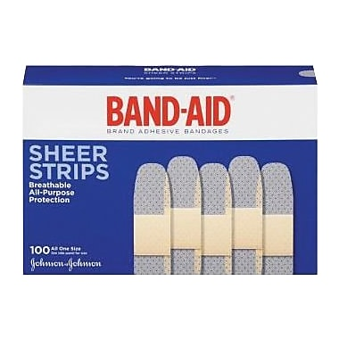 Band-Aid® Comfort Sheer Adhesive Bandages, 3/4 x 3in.