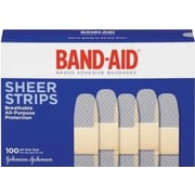 Band-Aid® Comfort Sheer Adhesive Bandages, 3/4 x 3