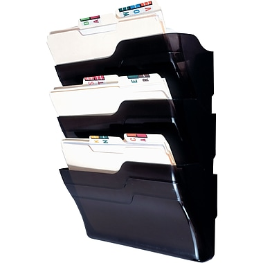 Staples® 3-Pocket Executive Wall File Starter Set, Letter-Size