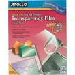 Apollo Quick Dry Inkjet Printer Transparency Film