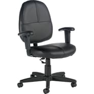 Global Leather Task Chair, Black