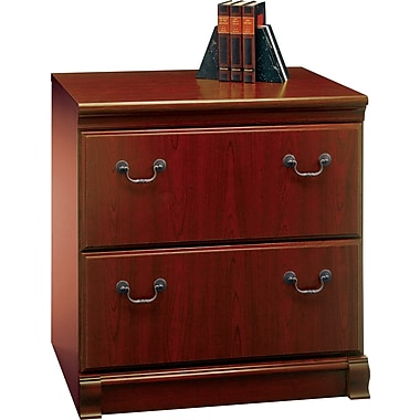 Bush Birmingham 30in. 2-Drawer Lateral File, Harvest Cherry