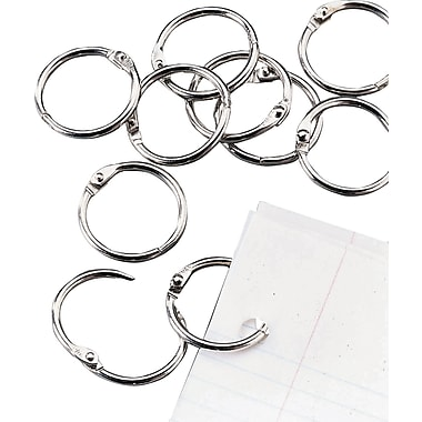 Staples Loose-Leaf Rings, 1in. Size, Silver