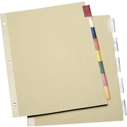 Staples® Economy Insertable Dividers with Buff Paper, 5-Tab Multicolor, 6 Sets/Pack
