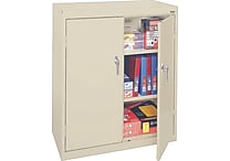 Sandusky Deluxe Steel Welded Storage Cabinet, 42'H x 36'W x 18'D, Putty