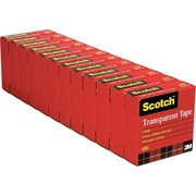 Scotch® Transparent Tape 600, 3/4 X 36yds, 12/Pack