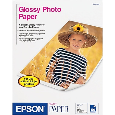 Epson® Glossy Photo Paper, 8 1/2in. x 11in.,  20/Pack
