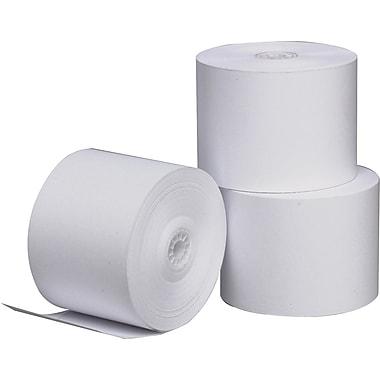TST Impresso 1-Ply Thermal Teller Financial Register POS Roll, White, 3