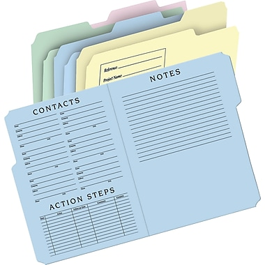 Staples® Preprinted Project File Folders, Letter, 24/Pack