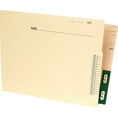Ames Color-File® Pre-Printed Color-Coded End-Tab File Folders, 500/Box